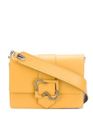 Just Cavalli Snake Buckle Shoulder Bag Yellow