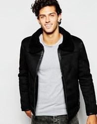 Barney's Barneys Faux Shearling Jacket Black