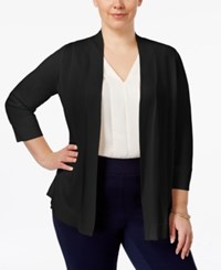 Charter Club Plus Size Open Front Cardigan Only At Macy's Deep Black
