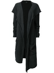 Lost And Found Ria Dunn Hooded Oversized Cardi Coat Grey