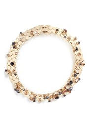 Lanvin 'Chain Lumiere' Glass Crystal Honeycomb Chain Necklace Metallic