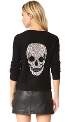 360 Sweater Raj Leopard Skull Black