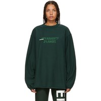 Vetements Green Inside Out Graphic Long Sleeve T Shirt
