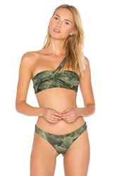 Baja East Wrap Bandeau Green