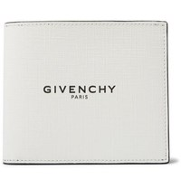Givenchy Glow In The Dark Logo Print Coated Canvas Billfold Wallet White
