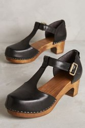 Anthropologie Kelsi Dagger Carla Clogs Black 8.5 Wedges