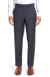 Ted Baker Men's London Livingstone'flat Front Check Wool Trousers Grey