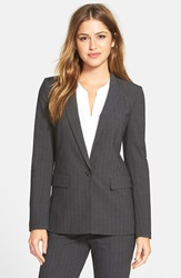 Halogen Pinstripe Stretch Suiting Jacket Grey Pinstripe Pattern