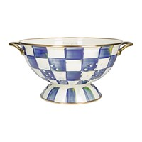Mackenzie Childs Royal Check Colander Small