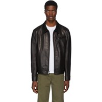 Schott Black Waxy Cowhide Delivery Jacket