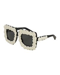 Dandg D And G Absolute Luxury Roses Sunglasses White Black