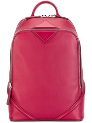 Mcm Zip Up Backpack Red