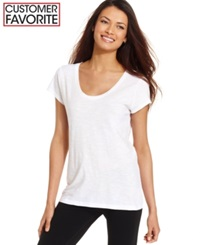 Style And Co. Sport Short Sleeve Scoop Neck Tee Only At Macy's Fire Blossom