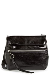 Hobo 'Small Adira' Glazed Leather Crossbody Bag Black