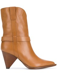 Aldo Castagna Pointed Ankle Boots Brown
