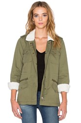 Velvet By Graham And Spencer Lu Faux Fur Parka Green