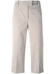 Dondup Ivy Cropped Trousers Nude Neutrals