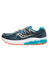 Saucony Jazz 18 Stabilty Running Shoes Teal Orange Turquoise