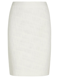 Precis Petite Textured Tweed Boot Skirt Cream