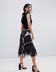 Coast Printed Soft Midi Skirt Multi