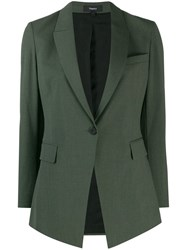 Theory Fitted Single Breasted Blazer Green