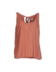 Siyu Topwear Tops Women Brick Red