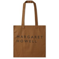 Mhl By Margaret Howell Logo Tote Bag Brown