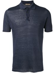 Nuur Knitted Polo Shirt Blue