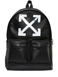 Off White Brushed Arrows Leather Backpack