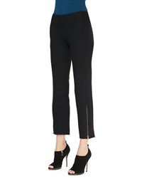 Donna Karan Cropped Trousers With Ankle Zip Women's
