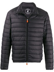 Save The Duck Quilted Zip Front Jacket Black