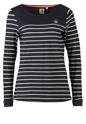 Gaastra Dawn Long Sleeved Top Navy Heather Light Blue