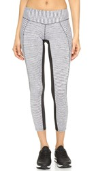 Solow Crosscut Ankle Leggings White Stripe