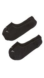 Emporio Armani 2 Pack Basic Invisible Loafer Socks Black