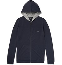 Hugo Boss Bo Tretch Cotton Jerey Hoodie Blue