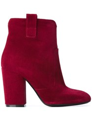 Fausto Zenga Ankle Length Boots Red
