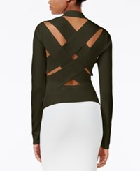 Rachel Roy Lattice Back Sweater Only At Macy's Army