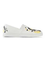Thakoon Addition Lattice Trainers White