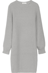 Richard Nicoll Waffle Knit Angora Blend Sweater Dress Gray