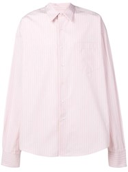 Ami Alexandre Mattiussi Oversize Long Sleeve Shirt With Chest Pocket Pink