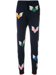 Chinti And Parker Juliet Heart Track Pants Blue
