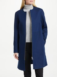 John Lewis Collarless Coat Navy