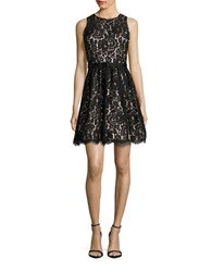 Eliza J Petite Sleeveless Lace Fit And Flare Dress Black