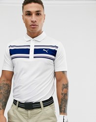 Puma Golf Montauk Polo In White