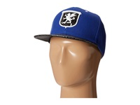 Stacy Adams Ball Cap With Griffin Patch And Snake Print Bill Blue Caps