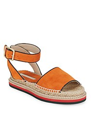 Saks Fifth Avenue Suede Espadrille Sandals Taupe