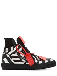 Off White 20Mm Court Striped Leather Sneakers Array 0X5881e20