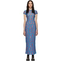 Eckhaus Latta Purple And Blue Shrunk Dress