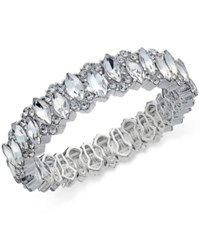 Charter Club Silver Tone Crystal Stretch Bracelet Only At Macy's