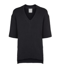 Wooyoungmi Knitted V Neck Top Male Black